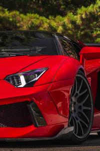 Red LamborghiniAventador