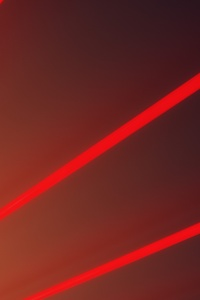 1080x2160 Red Light Beams Abstract 5k