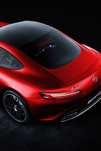 320x568 Red Mercedes Benz Amg GT 4k