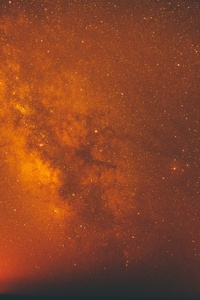 Red Milky Way Galaxy Space Night Stars 5k