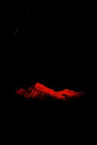 1080x2160 Red Mountain Starry Night Dark 5k