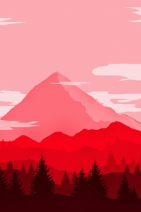 Red Mountains Minimalist 4k