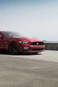 Red Mustang 4k
