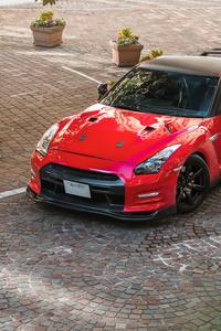 750x1334 Red Nissan Gtr 5k