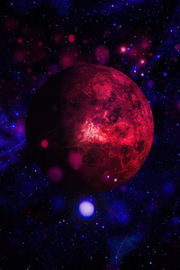 320x480 Red Planet Space Art 4k