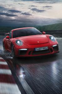 240x400 Red Porsche 918