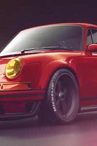 320x568 Red Porsche