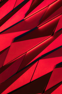 240x400 Red Sharp Shapes Texture 4k