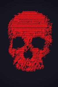 720x1280 Red Skull 4k