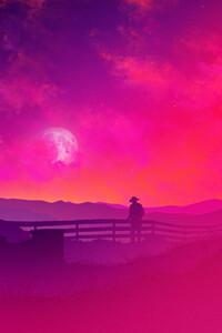 1080x2280 Red Sky At Night 4k