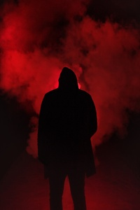 Red Smoke Background Person 5k
