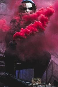 720x1280 Red Smoke By Joker