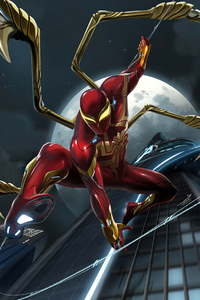 1125x2436 Red Spider Iron Suit 4k
