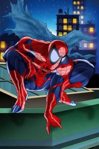 Red Spiderman Artwork 4k