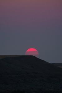 Red Sun Landscape Sunset Dark 5k