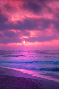 Red Sunrise Flare 8k