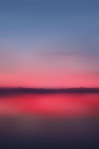 Red Sunset Blur Minimalist 5k
