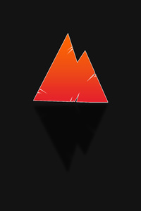 750x1334 Red Triangle Black 8k
