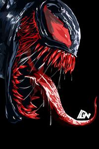480x800 Red Venom Artwork 4k