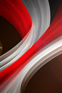 Red White Abstract Swirl