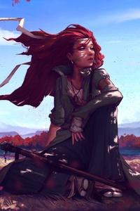 1080x1920 Redhead Anime Girl 5k