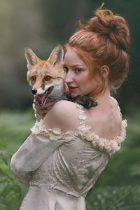 800x1280 Redhead Girl Fox
