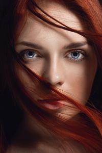 Redhead Girl Hairs On Face 4k 5k