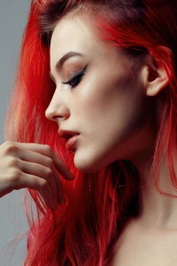 1242x2688 Redhead Girl Portrait Side 5k