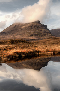 240x400 Reflections At Quinag Mountains 5k