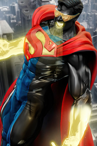 360x640 Reign Of The Superman Movie Art 5k