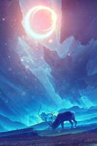 240x400 Reindeer Digital Art 4k