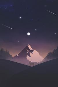 320x568 Reindeer Mountains Minimal 5k
