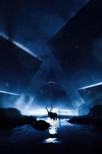 Reindeer Scifi 4k
