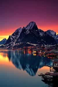Reinebringen Mountains In Norway