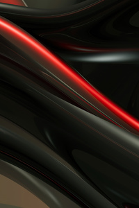1080x1920 Render Shapes Abstract Red 4k