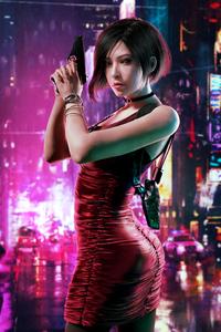1242x2688 Resident Evil Ada Wong 2020