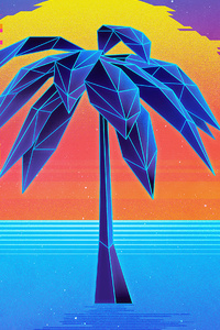 1440x2960 Retro Abstract Tree 4k