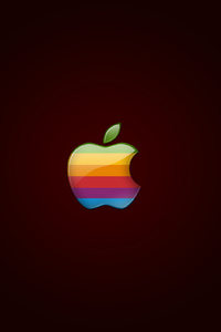 1440x2560 Retro Apple Logo