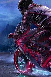 Retro Bike Rider 4k