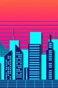 Retro City Wave 4k