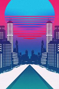 540x960 Retro Cityscape 4k