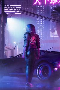 320x568 Retro Cyberpunk 2077 Neon Life 5k