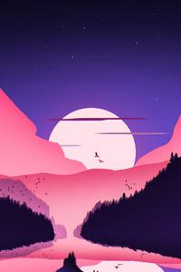 Retro Landscape 4k