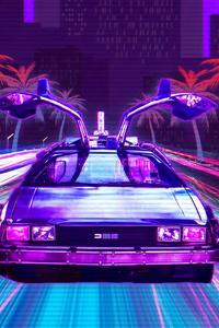Retro Lux Cars Retrowave 4k