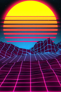 Retro Sunrise 4k