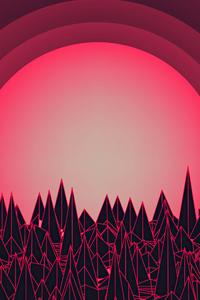 360x640 Retro Synth Abstract 4k