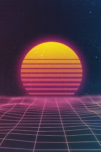 Retro Waves 4k
