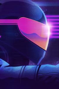 Retrowave Biker Helmet