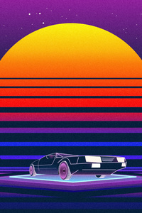 Retrowave Car 5k