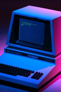 640x1136 Retrowave Computer 5k